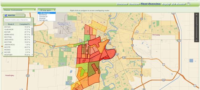 FleetLink Map back-office application