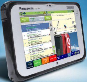WasteApp providing service verification on FleetLink Mobile Lite tablet